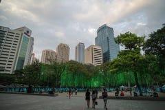Mostra clara e de som no triângulo de Ayala Foto de Stock Royalty Free