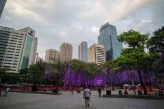 Mostra clara e de som no triângulo de Ayala Fotos de Stock Royalty Free