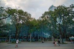 Mostra clara e de som no triângulo de Ayala Foto de Stock