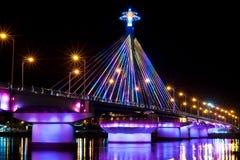 Mostra clara na ponte de Han da canção Fotografia de Stock Royalty Free