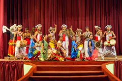 Mostra cultural da dança de Kandyan fotos de stock