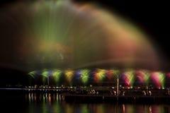 Mostra da água e da luz fotografia de stock