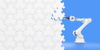 Mostra da ação do manipulador robótico Imagem de Stock Royalty Free