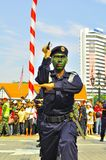 Mostra da arte marcial durante o dia nacional de Malaysia Fotos de Stock Royalty Free