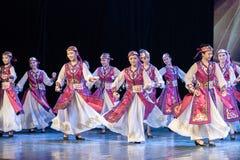 Mostra da Dança-graduação da dança 6-Mongolian do copo do vinho da dança Departmen foto de stock