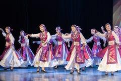 Mostra da Dança-graduação da dança 7-Mongolian do copo do vinho da dança Departmen imagens de stock royalty free