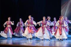Mostra da Dança-graduação da dança 9-Mongolian do copo do vinho da dança Departmen imagem de stock royalty free