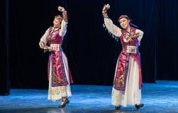 Mostra da Dança-graduação da dança 9-Mongolian do copo do vinho da dança Departmen imagem de stock