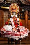 Mostra da dan?a de Kathakali em Cochin, ?ndia foto de stock royalty free