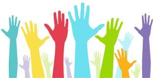 Mostra da diversidade das mãos Imagem de Stock