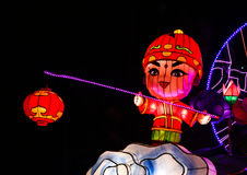 Mostra da lanterna em chengdu, porcelana Fotografia de Stock Royalty Free