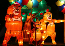 Mostra da lanterna em chengdu, porcelana Fotos de Stock Royalty Free