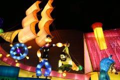 A mostra da lanterna em zigong, porcelana em 2014 fotografia de stock royalty free