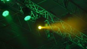 Mostra da luz do concerto video estoque
