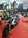 Mostra da motocicleta de Benelli foto de stock
