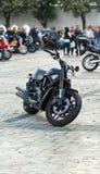Mostra da motocicleta - velomotor de Harley Davidson do vintage Fotografia de Stock