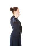Mostra da mulher de negócios NENHUM gesto Fotos de Stock Royalty Free