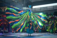 A mostra da rua das cores em Banguecoque. Fotos de Stock Royalty Free