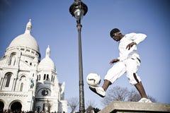 Mostra da rua. Distrito de Montmartre. Paris Imagens de Stock Royalty Free