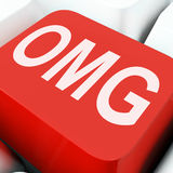 Mostra das chaves de Omg oh meu deus ou chocado Fotos de Stock Royalty Free