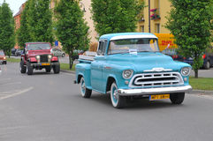 Mostra de carros do vintage Fotografia de Stock Royalty Free