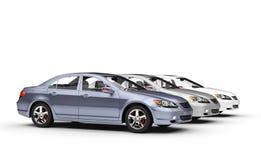 Mostra de carros metálica ilustração stock