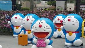 Mostra de Doraemon do monte de Roppongi Fotos de Stock