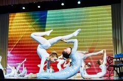 Mostra de entretenimento do circo 'de Romantics', o 21 de fevereiro de 2016 em Minsk, Bielorrússia Fotos de Stock Royalty Free