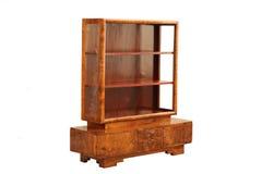 Mostra de madeira do art deco do vintage em um fundo branco Imagem de Stock Royalty Free