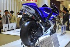 Mostra de motor de Yamaha YZR-M1 Tokyo Fotografia de Stock Royalty Free