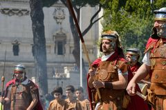 Mostra de romanos antigos no aniversário da ocasião de Roma Fotos de Stock
