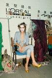 Mostra de Vivienne Westwood shanghai de bastidores Fotos de Stock
