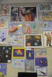 Mostra dei disegni del ` s dei bambini Immagine Stock Libera da Diritti