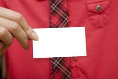 Mostra del mio businesscard Fotografie Stock