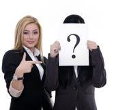 Mostra del punto interrogativo Immagini Stock