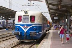 Mostra del treno a Gara de Nord Immagini Stock Libere da Diritti
