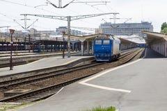 Mostra del treno a Gara de Nord Fotografie Stock Libere da Diritti
