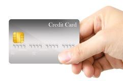 Mostra della carta di credito Immagini Stock Libere da Diritti