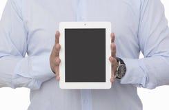 Mostra della compressa digitale in bianco Immagini Stock