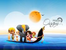 Mostra della cultura del Kerala, re Mahabali royalty illustrazione gratis