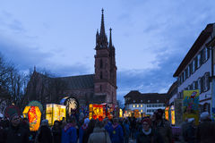 Mostra 2017 della lanterna di carnevale di Basilea Immagini Stock