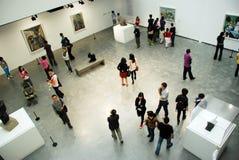 Mostra della pittura dei pica spagnoli del Pablo del pittore Fotografia Stock Libera da Diritti