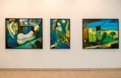 Mostra delle pitture in Jurmala Fotografia Stock