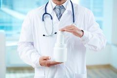 Mostra delle vitamine nuove Immagini Stock