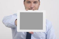 Mostra dello schermo di una compressa digitale Fotografie Stock