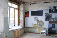 Mostra di arte contemporaneo a Mosca Fotografia Stock