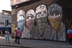 Mostra di arte della Street del sig. Brainwash Fotografia Stock Libera da Diritti