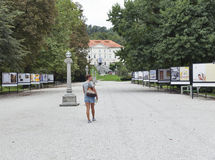 Mostra di arte moderna nel parco di Tivoli Transferrina, Slovenia Fotografia Stock