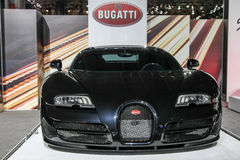 Mostra di Bugatti all'esposizione automatica 2016 dell'internazionale di New York Fotografia Stock Libera da Diritti