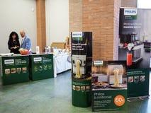 Mostra di macchinario per la cucina nella città di Foligno i immagine stock